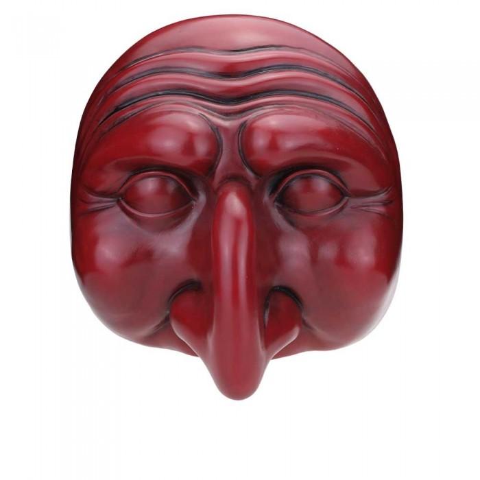 Maschera di Pulcinella in Terracotta Grande Rosso