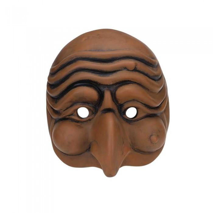 Maschera di Pulcinella in Terracotta Media Cuoio