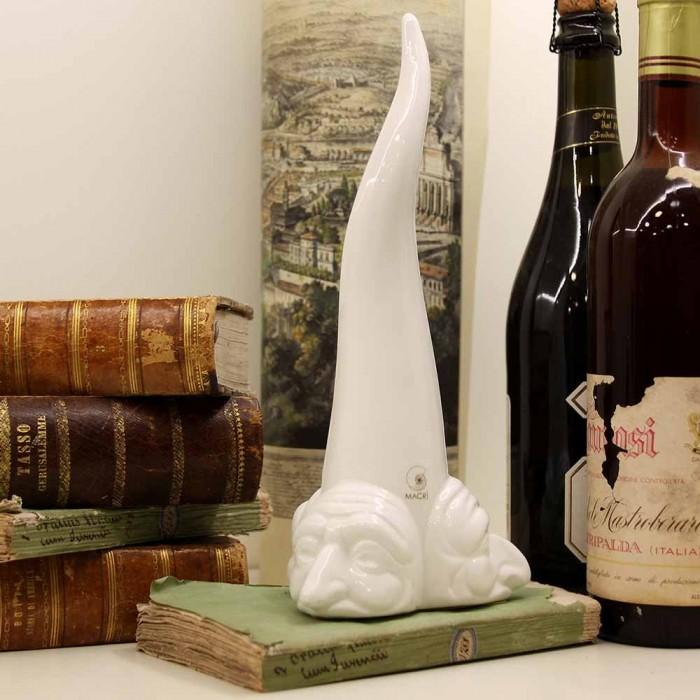 Corno Portafortuna Tre Facce Bianco grande ambientazione macri segni creativi