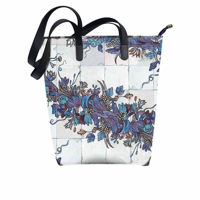 Shopping Bag Aurora Maiolicato Blu
