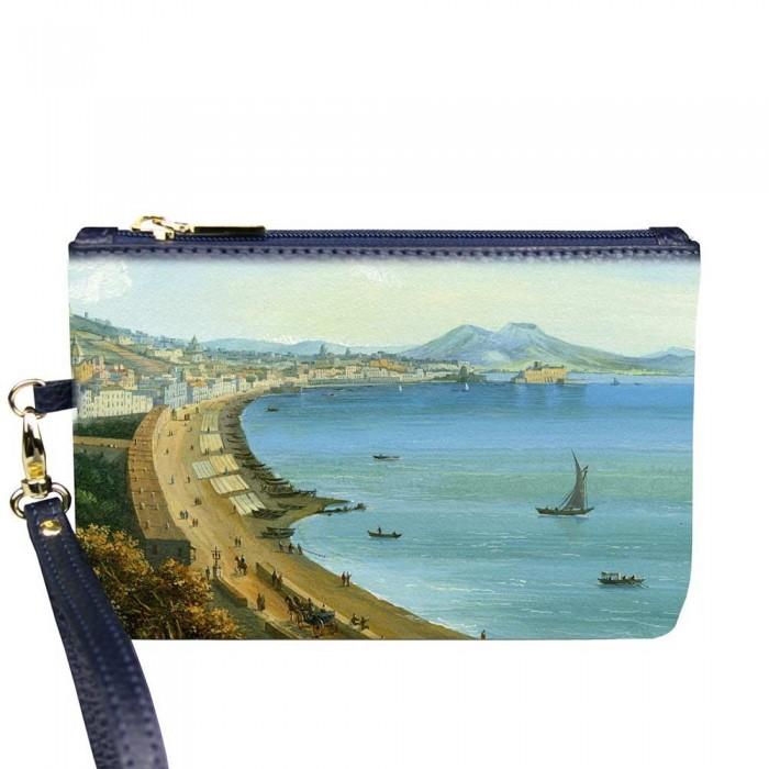 Pochette Donna Gaia Gouache Golfo di Napoli in pelle