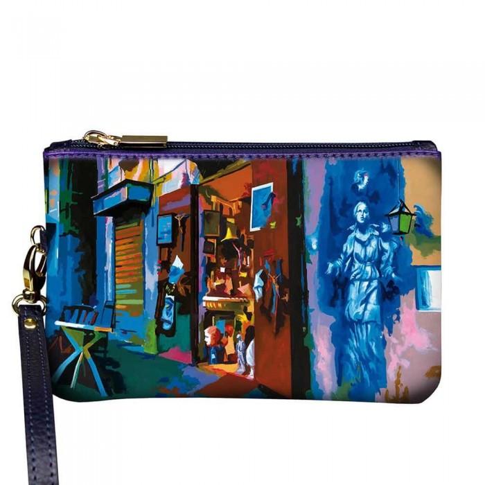 Pochette Donna Gaia Banksy a Napoli in pelle