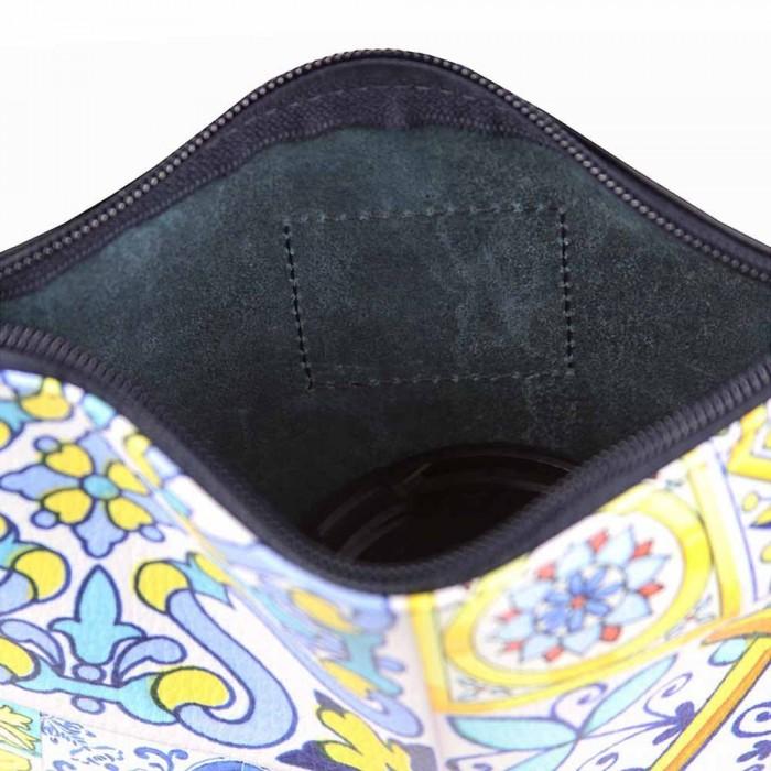 Pochette Donna Gaia Maiolicato Blu interno